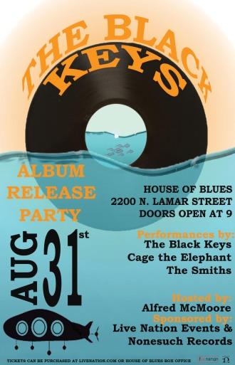 Poster Mock-up for The Black Keys